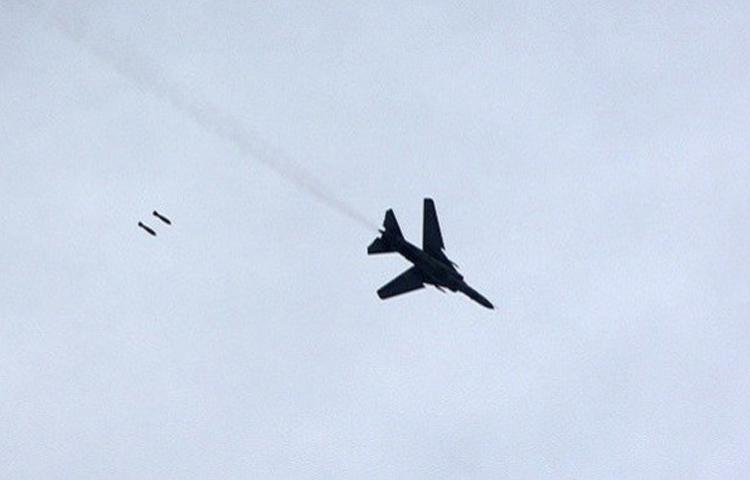 اسقاط طائرة حربية في حماة