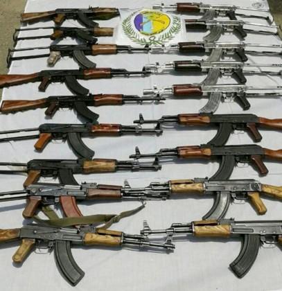 اسلحه - رشاش - سلاح - حرس الحدود - تهريب سلاح