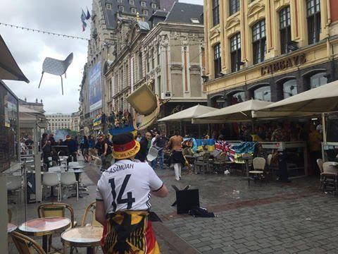اشتباكات بين الجماهير الألمانية والأوكرانية (1) 
