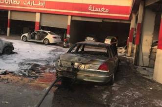 اصطدام مركبة بمنصة تعبئة يسبب حريقًا في محطة وقود بالرياض - المواطن