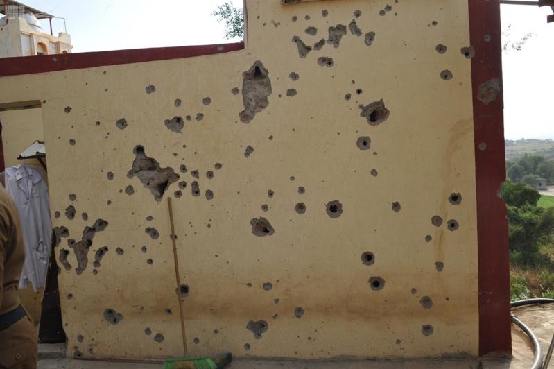 اعتداءات المليشيات الحوثية على قرى جازان (8)