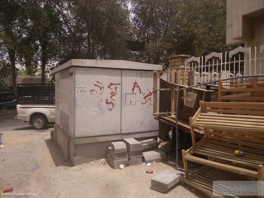اغلاق شارعين بحي الروضة بجدة (11)