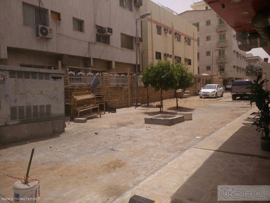 اغلاق شارعين بحي الروضة بجدة (13)