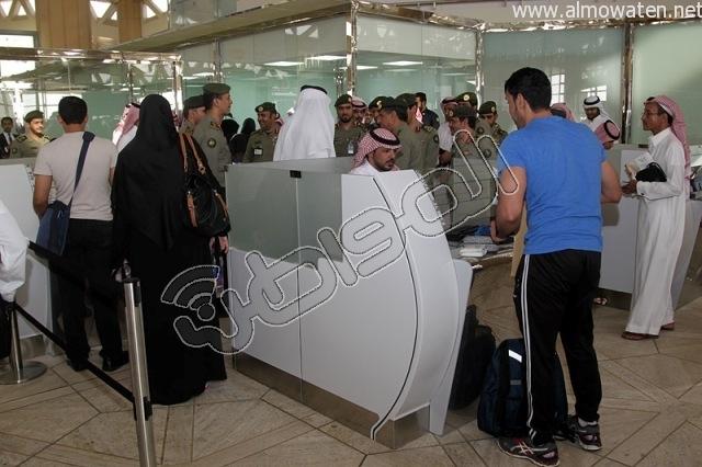 افتتاح صاله الجوزات بمطار الملك خالد (23)