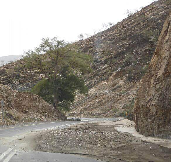 الأمطار تسبب انهيارات بطريق عنكة النجدين (9)
