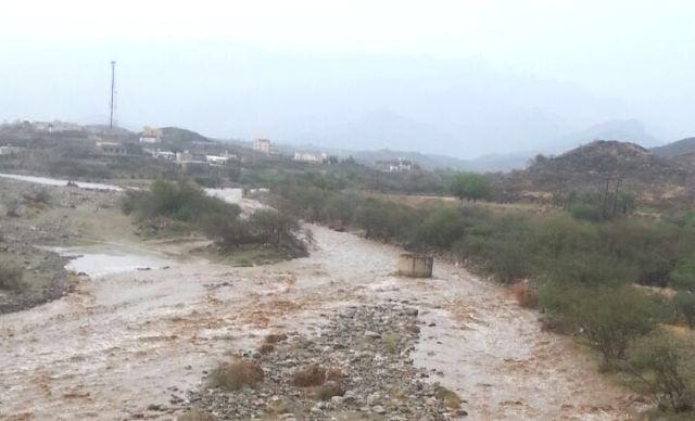 الأمطار على بارق والمجاردة والكهرباء خارج الخدمة (1)