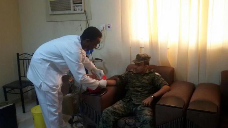 الأمن في صدارة المتبرعين بالدم في العارضة 3