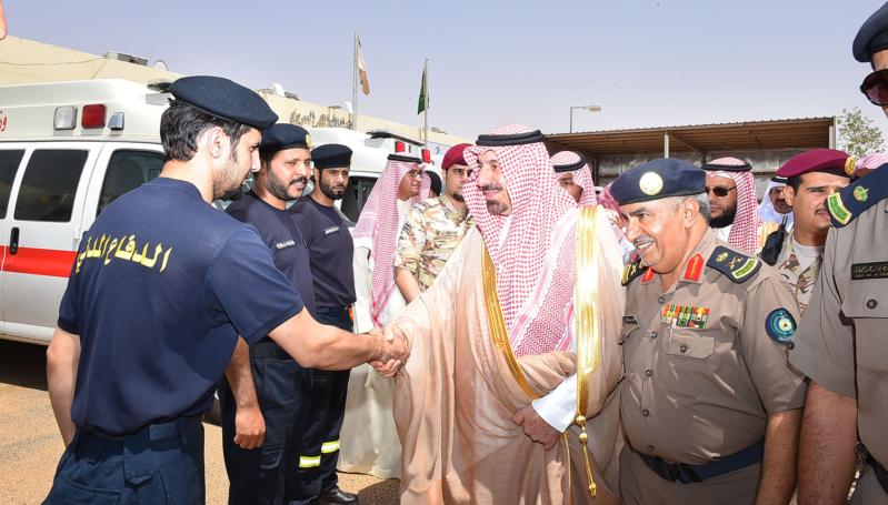 الأمير جلوي مع الدفاع المدني