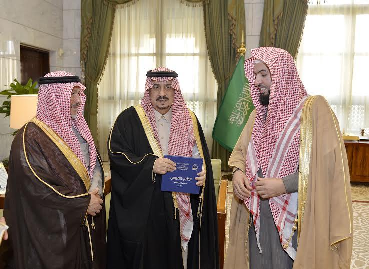الأمير فيصل بن بندر يستقبل مدير جامعة الأمام المكلف وعميد المعهد العالي للقضاء8