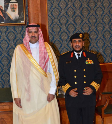 الأمير فيصل بن سلمان يقلد صالح بن علي الحربي عميد