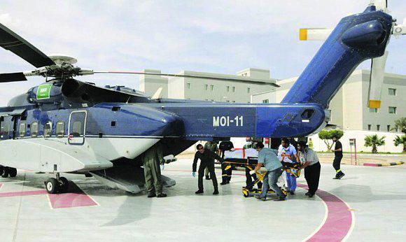 الإخلاء الطبي بطيران الأمن