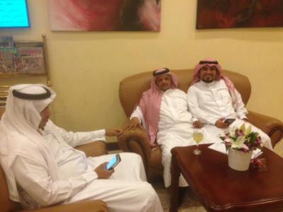 الإعلاميون السعوديون المشاركون في لقاء الأحواز بالكويت1