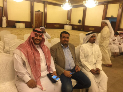الإعلاميون السعوديون المشاركون في لقاء الأحواز بالكويت3