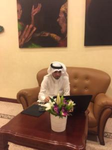 الإعلاميون السعوديون المشاركون في لقاء الأحواز بالكويت7