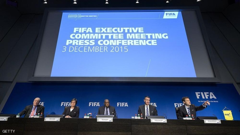 "(From L) FIFA Reform Committee chirman Francois Carrard, co-opted member of the FIFA Executive Committee, Moya Dodd, Acting FIFA President Issa Hayatou, FIFA Acting General Secretary Markus Kattner and FIFA head of communications Nicolas Maingot attends a press conference at the FIFA headquaters on December 3, 2015 in Zurich.  The unprecedented corruption scandal engulfing FIFA widened on December 3 with the arrests of two more top officials in another dramatic dawn raid at a luxury hotel in Zurich.FIFA's Executive Committee ""unanimously"" approved a programme of reforms which includes limiting presidents to a maximum 12 years in charge and introducing ""transparency of compensation"" for leading officials.  / AFP / FABRICE COFFRINI        (Photo credit should read FABRICE COFFRINI/AFP/Getty Images)"