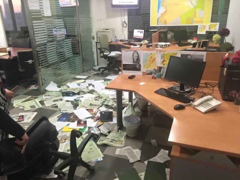 الاعتداء على مكتب الشرق الاوسط