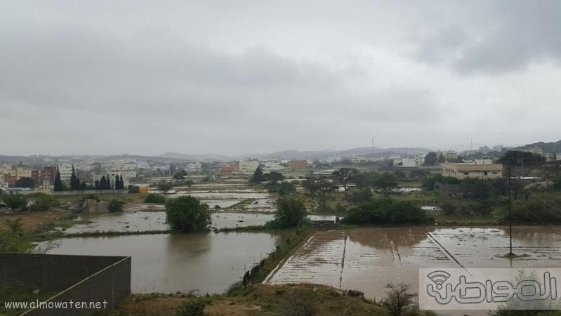 الامطار الغزيرة التي شهدتها قرى شمال عسير