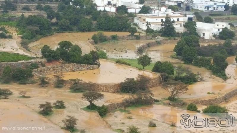 الامطار الغزيرة التي شهدتها قرى شمال عسير1