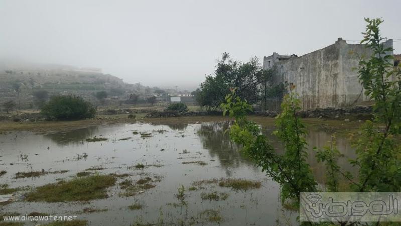 الامطار الغزيرة التي شهدتها قرى شمال عسير12