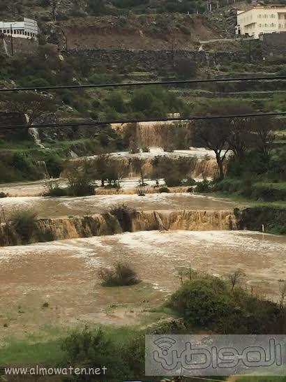 الامطار الغزيرة التي شهدتها قرى شمال عسير4