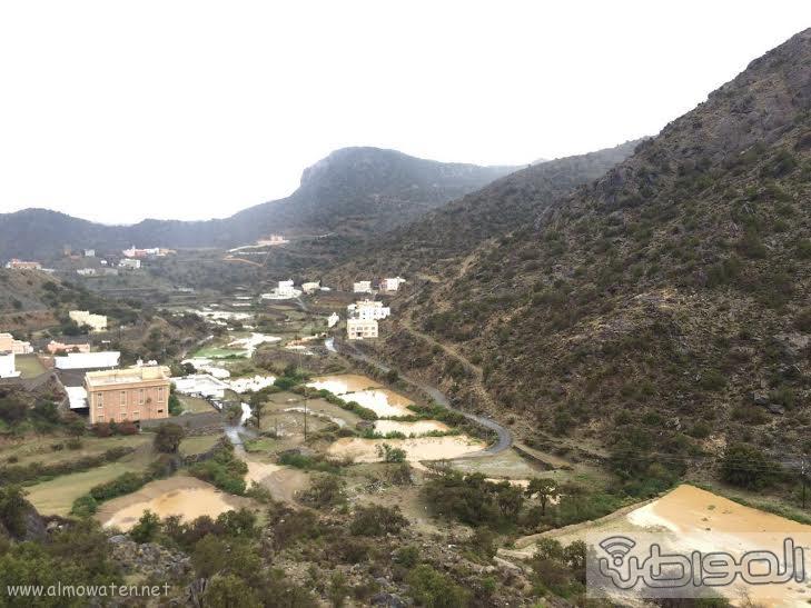 الامطار الغزيرة التي شهدتها قرى شمال عسير6