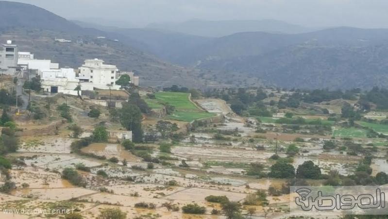 الامطار الغزيرة التي شهدتها قرى شمال عسير8