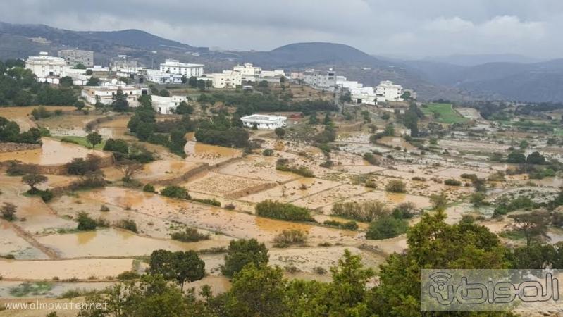 الامطار الغزيرة التي شهدتها قرى شمال عسير9
