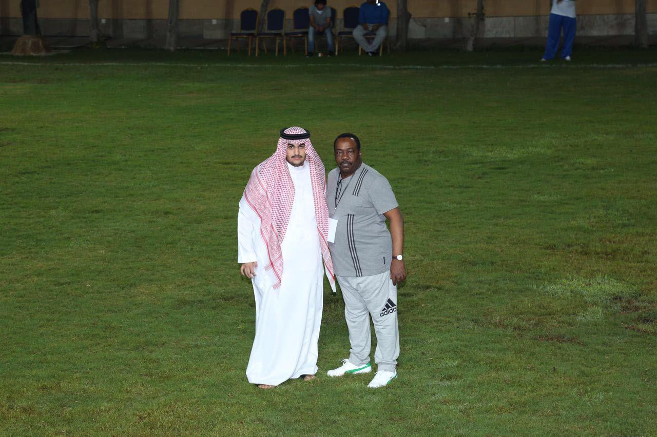 الامير خالد بن عبدالعزيز رئيس اللجنة العليا للدورة واحمد العبدالعزيز رئيس اللجنة المنظمة