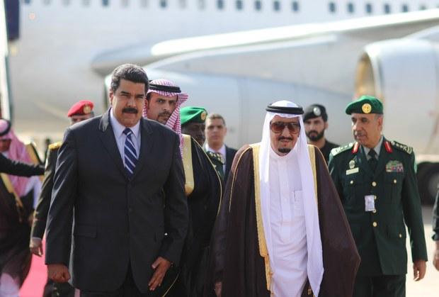 التليفزيون الفنزويلي يُبرز استقبال الملك لـمادورو