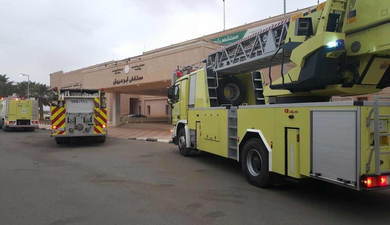 التماس كهربائي يخلي حضانة مستشفى ابوعريش (1)