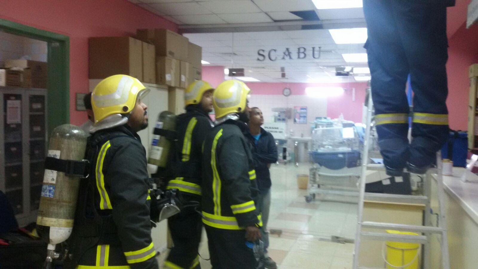 التماس كهربائي يخلي حضانة مستشفى ابوعريش (2)
