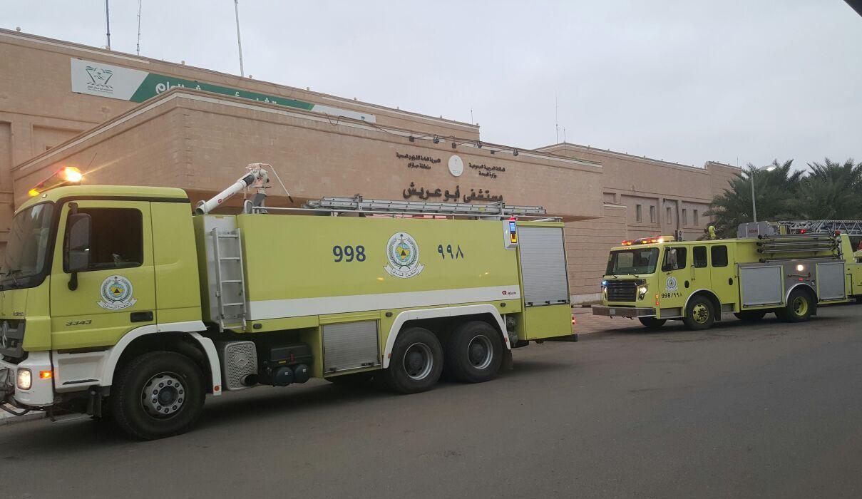 التماس كهربائي يخلي حضانة مستشفى ابوعريش (4)