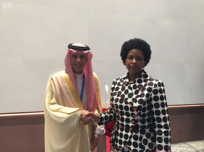 الجبير مع وزيرة خارجية جنوب افريقيا