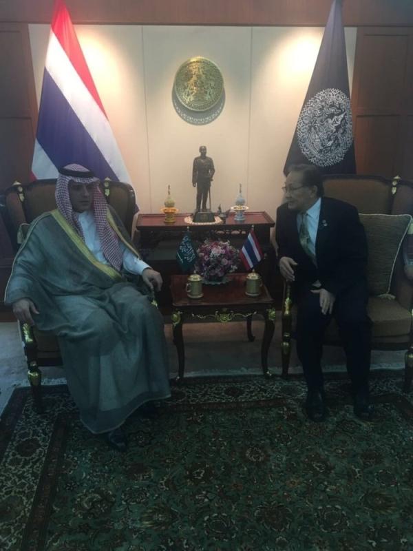 الجبير مع وزير خارجية تايلند
