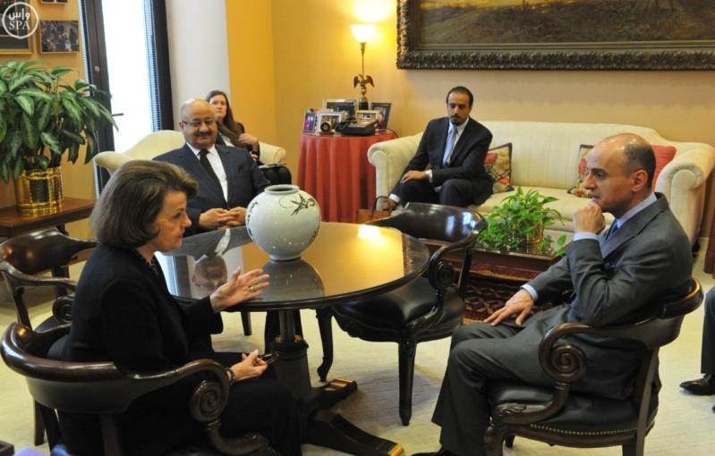 الجبير وسفير الملك يلتقيان بأعضاء من مجلس الشيوخ الأمريكي