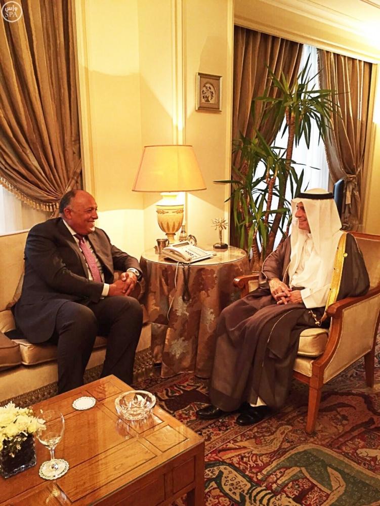 الجبير و وزير الخارجية المصري
