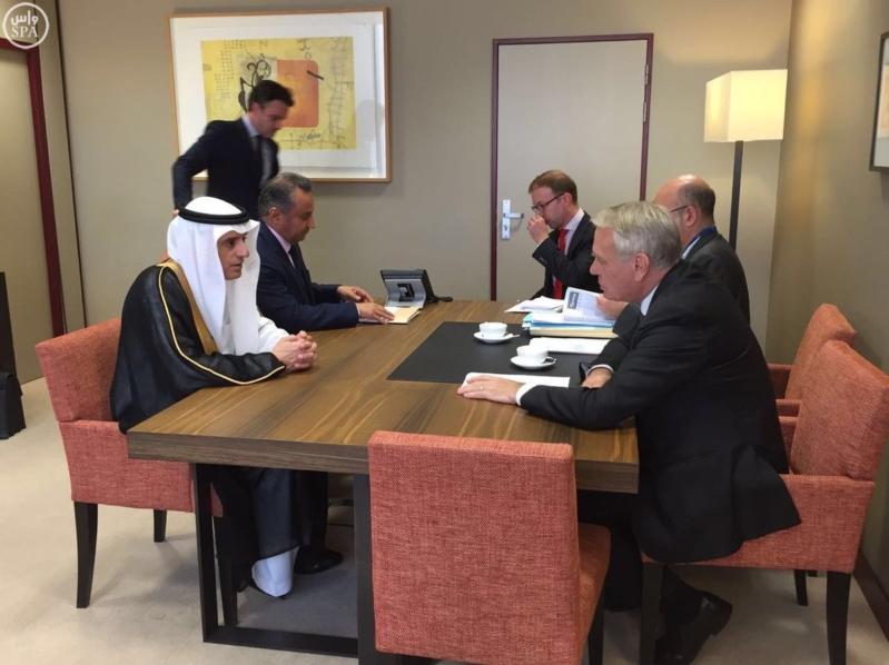 الجبير يبحث مع وزراء خارجية فرنسا وبلجيكا وإيرلندا  (1)