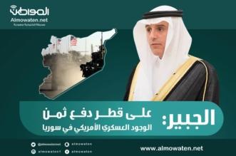 """إنفوجرافيك """"المواطن"""".. الجبير: على قطر دفع ثمن الوجود العسكري الأميركي بسوريا - المواطن"""