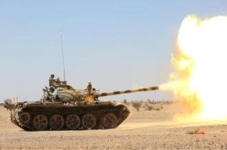 الجوف قصف دبابة 1