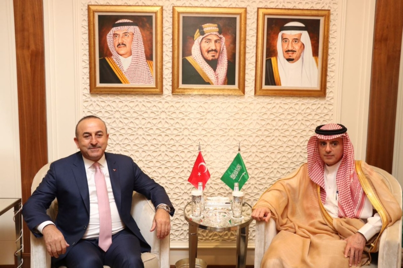 الجير يستقبل وزير خارجية تركيا