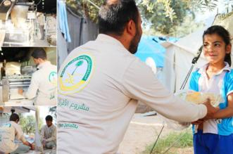 بالصور.. الحملة الوطنية توزع 212 ألف رغيف خبز على الأشقاء السوريين - المواطن