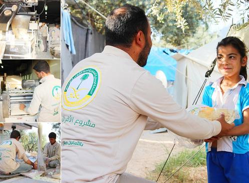 الحملة الوطنية توزع 212 ألف رغيف خبز على الأشقاء السوريين