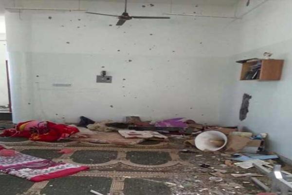 الحوثيون يشوهون مسجد في تعز3
