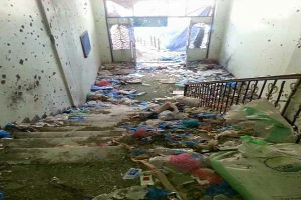 الحوثيون يشوهون مسجد في تعز6