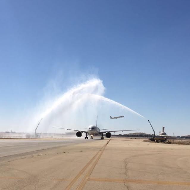 الخطوط السعودية تحتفل بوصول طائرتها الأولى المزودة بأجنحة الدرجة الأولى