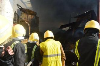 بالصور.. حريق يلتهم مستودعًا للمواد الصحية بـ #جدة - المواطن