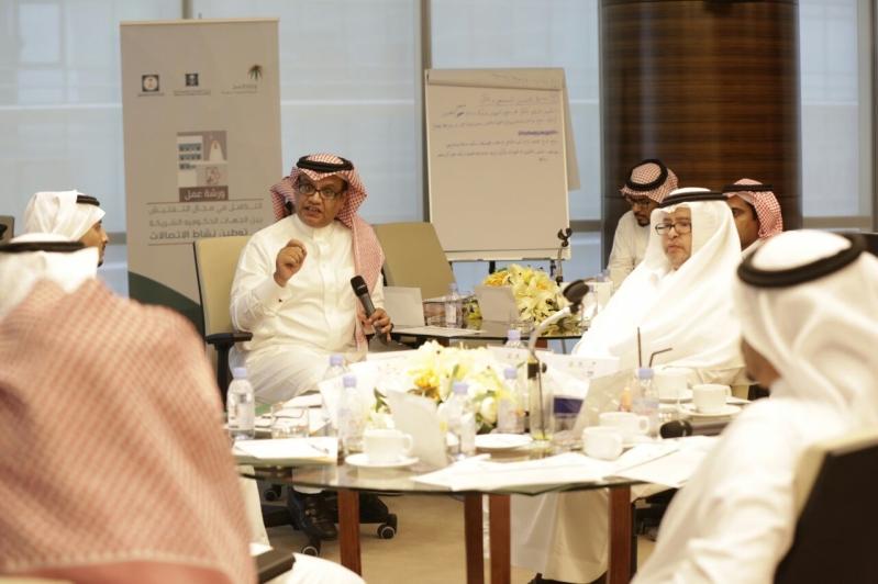 الدكتور إبراهيم الشافي متحدثا في ورشة العمل