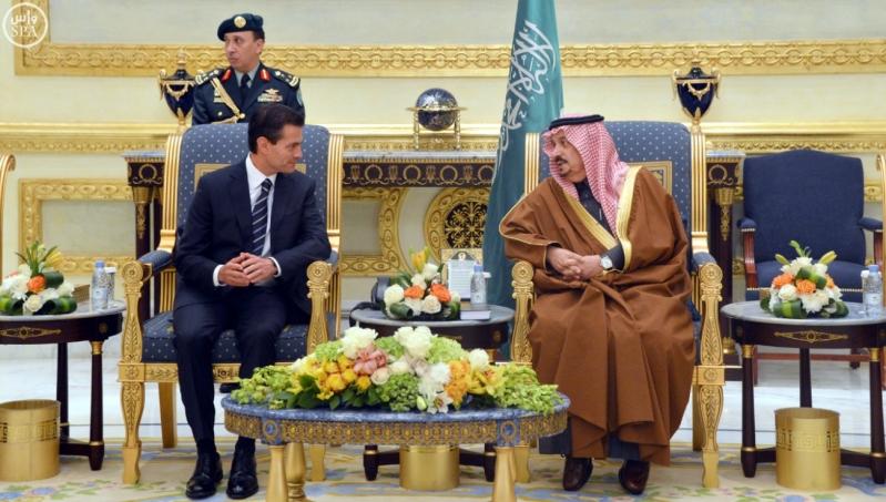 الرئيس أنريكي بينيا نييتو رئيس الولايات المتحدة المكسيكية إلى الرياض