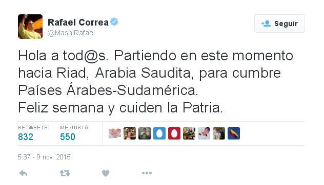 الرئيس الإكوادوري رفائيل كوريا (2)