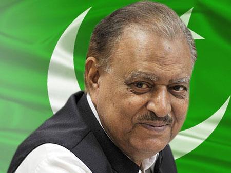 الرئيس الباكستاني ممنون